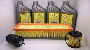 Óleo 5w40 Api Sn Sintético + Kit Filtros Peugeot 207 1.4 8v