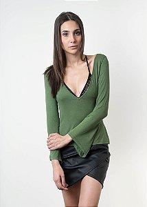 Blusa Manga Flare - Verde
