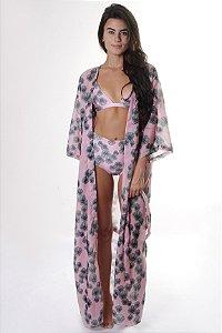 Kimono Longo - Estampa Blossom