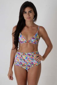 Top Fixo Bells e Hot Pants Canggu - Estampa Universe