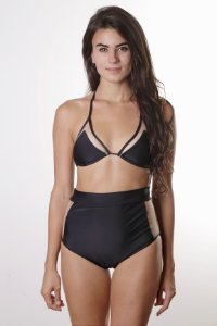 Top Tule Maya - Hot Pants Tule Maya - Liso Preto