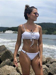 Top Ilhós Castelhanos + Calcinha Regulador - Branco