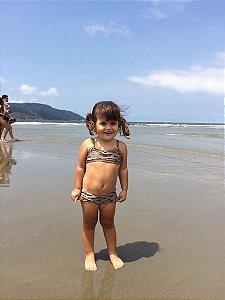 Biquíni - Infantil - Estampa Corais Verde