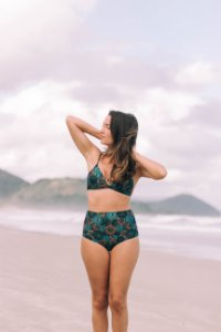 Top Fixo e Hot Pants Canggu - Estampa Mandala Turquesa