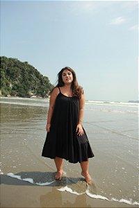 Vestido Alça - Liso Preto