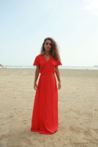 Vestido Transpasse - Liso Vermelho