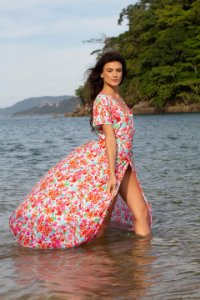 Vestido Transpasse - Estampa Bloom