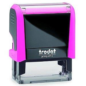 Carimbo Trodat Printy 4911 4.0 - Rosa Neon
