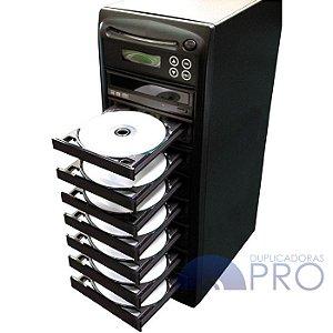 Duplicadora de DVD e Cd com 8 Gravadores - Grava Midias Dual Layer até 8.5GB - Samsung