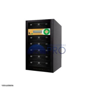 Duplicadora de DVD e CD com 6 Gravadores Philips / Lite-on + Controladora LSK 2000