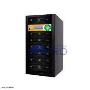 Duplicadora de DVD e CD com 7 Gravadores Philips / Lite-on + Controladora LSK 2000