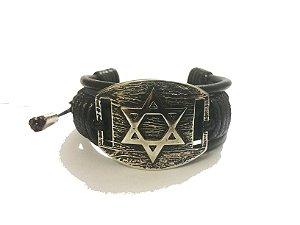 Bracelete Bicudos Estrela de Davi Regulável
