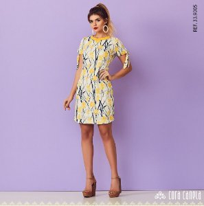 Vestido Crepe Print Floral