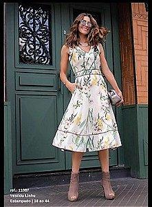 Vestido Linho Floral