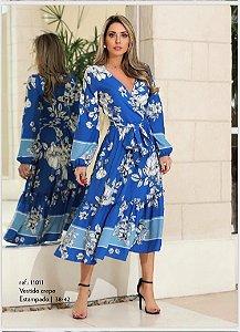 Vestido Crepe Floral Listra
