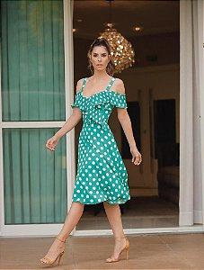 Vestido Crepe Poá