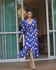 Vestido Crepe Maxi Poá