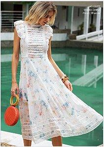 Vestido Chiffon Floral Entremeios
