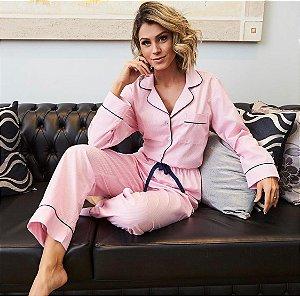 Pijama Rosa Claro Detalhes