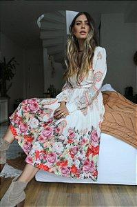 Vestido Crepe Estampas