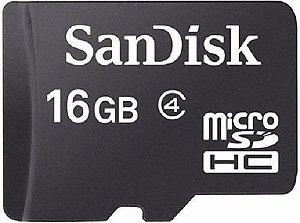 Cartão de Memória SanDisk microSD com Adaptador - 16GB