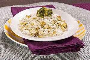 Arroz branco com Brócolis