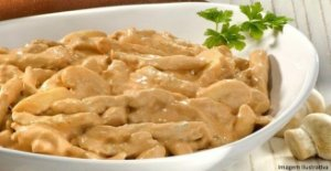 Strogonoff de frango zero lactose