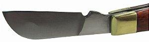 Canivete Chaveiro Modelo Cabo Madeira Lamina De Aço Inox 9cm