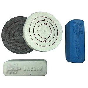 Kit Para Polir Alumínio Pastas De Polir Rodas De Pano 7,5 Cm