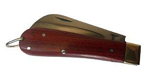 Canivete Modelo Pica Fumo Lâmina Aço Carbono Ranhurada 18 Cm