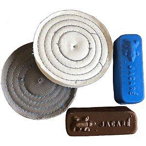 Kit Para Tirar Pequenos Riscos E Lustrar Pasta Marrom E Azul