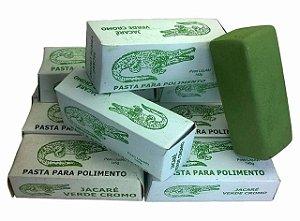 Massa De Polir Verde Cromo Jacare Lote Com 5 Unidades