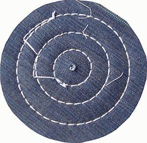 Roda de Brim Disco de Pano Para Polimento Tamanho 7,5 Cm