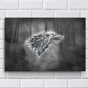 Placa Decorativa - Game of Thrones
