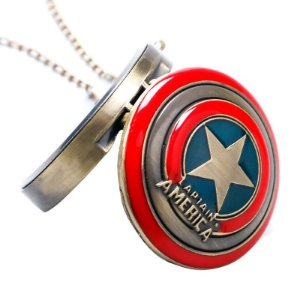 Relógio de Bolso - Capitão América