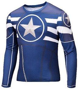 Camisa Capitão América Manga Comprida