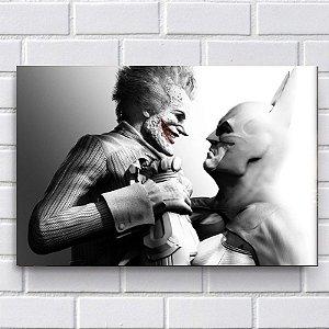 Placa Decorativa - Batman VS Coringa