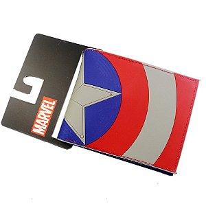 Carteira Marvel Oficial - Capitão América