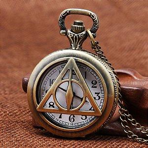 Relógio de Bolso - Harry Potter Relíquias da Morte