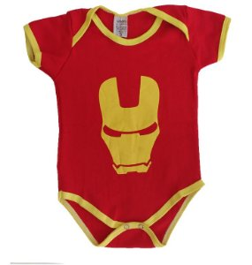 Body Bebê - Homem de Ferro