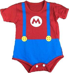 Body Bebê - Super Mário