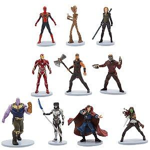 Coleção 10 Miniaturas Marvel - Oficial Disney