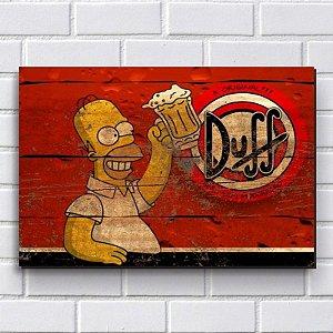 Placa Decorativa Simpsons