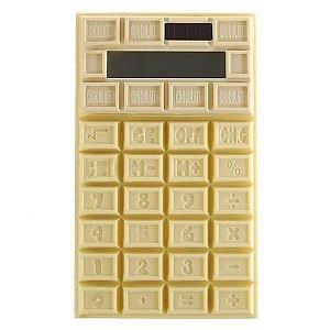 Calculadora Chocolate Branco - Luz Solar