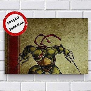 Placa Decorativa - Tartarugas Ninja Raphael