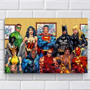 Placa Decorativa - DC Comics