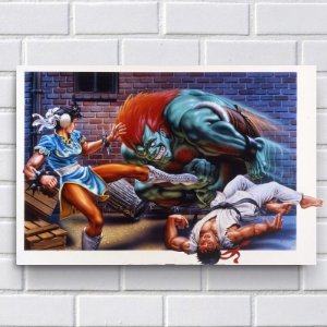 Placa Decorativa - Street Fighter