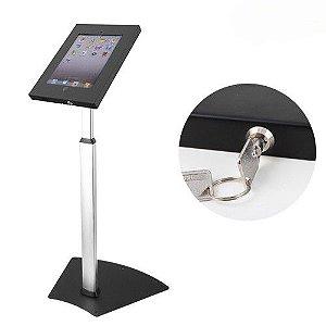 Pedestal de Chão Antifurto com Regulagem de Altura para iPad2, iPad3, iPad4 e iPad Air / Air2 com Trava por Chave - PAD12-05AL