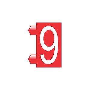 """Peças Avulsas """"9"""" (Vermelho)"""