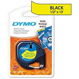 Fita DYMO 91332 (Preto/Amarelo c/ 12mm x 4mts)
